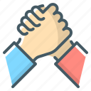arm wrestling, competition, handshake icon