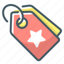 badge, commerce, price, pricing, tag icon