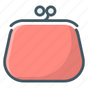 wallet, pouch, purse icon
