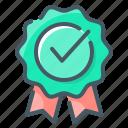 approval, award, badge, check, check mark, mark, rating icon