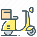 delivery, fast, fast delivery, scooter icon