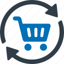 cart, update, trolley icon