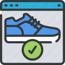 buy, ecommerce, online, running, shoes, trainers icon