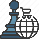 chess, ecommerce, internet, strategy icon