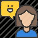 customer, ecommerce, feedback, happy, smile icon