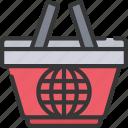 basket, ecommerce, internet, online, shopping icon