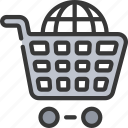 ecommerce, internet, shopping, trolly icon
