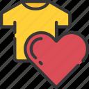 clothing, ecommerce, heart, like, product icon