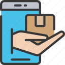 delivery, ecommerce, iphone, mobile, order, parcel icon
