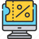 code, coupon, discount, ecommerce, online, percentage icon