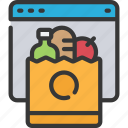 ecommerce, food, grocery, online, shop, shopping icon