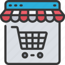 ecommerce, online, shop, shopping, store, trolley icon
