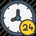 ecommerce, four, hours, open, seven, twenty icon