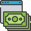 cash, ecommerce, money, online, shopping, spend icon