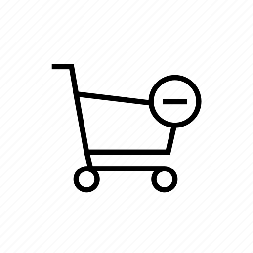 cart, online shopping, remove, shopping, shopping cart icon