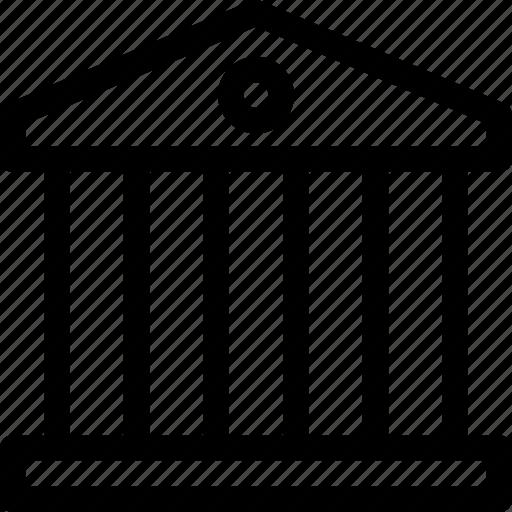 bank, banking, building, column, finance icon