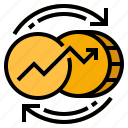 currency, money, exchange, transfer, currency fluctuation icon