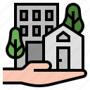 asset, building, immovable, property, home, real estate icon