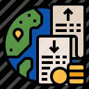 expenditure, expenses, profits, service account, trade account icon