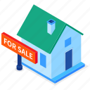 building, house for sale, real estate, crisis icon