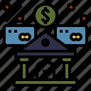 bank, central, economics, finance, money icon