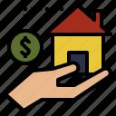 bank, credit, estate, money, real icon
