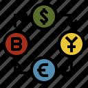 currency, economics, exchange, finance, money icon
