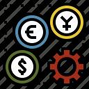business, economics, finance, monetary, system icon