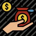 bank, economics, finance, money, supply icon