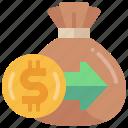 income, revenue, money, bag, earning, in, transfer