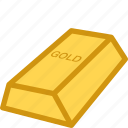 bar, brick, finance, gold, goldbrick, lingot icon