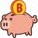 bank, bitcoin, money, piggy, piggybank, savings icon