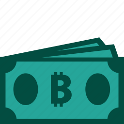 bills, bitcoin, cash, currency, money, payment icon