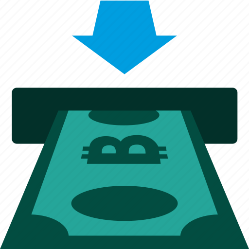 bank, bitcoin, cash, cashout, currency, payment, teller icon