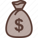 bag, bank, business, dollar, money icon