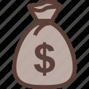 bag, bank, business, dollar, money