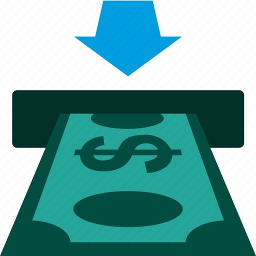 bank, cash, cashout, currency, dollar, payment, teller icon