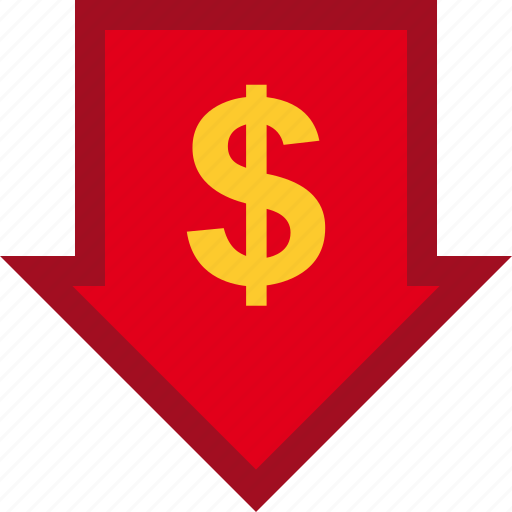 currency, descendant, descending, dollar, finance, financial, money icon