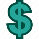 currency, dollar, finance, financial, money icon