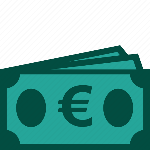 bills, cash, currency, euro, money, payment icon