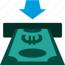 bank, cash, cashout, currency, euro, payment, teller icon