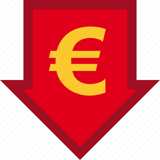 currency, descendant, descending, euro, finance, financial, money icon