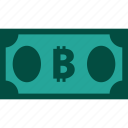 bill, bitcoin, currency, finance, money icon