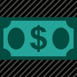 bill, currency, dollar, finance, money icon