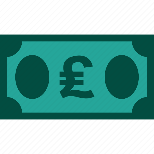 bill, currency, finance, money, pound icon