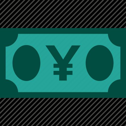 bill, currency, finance, money, yen icon