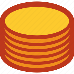 coins, currency, money, stack icon