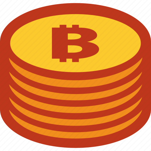 bitcoin, coins, currency, money, stack icon