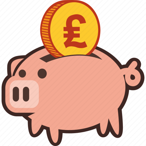 bank, money, piggy, piggybank, pound, savings icon