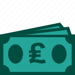bills, cash, currency, money, payment, pound icon